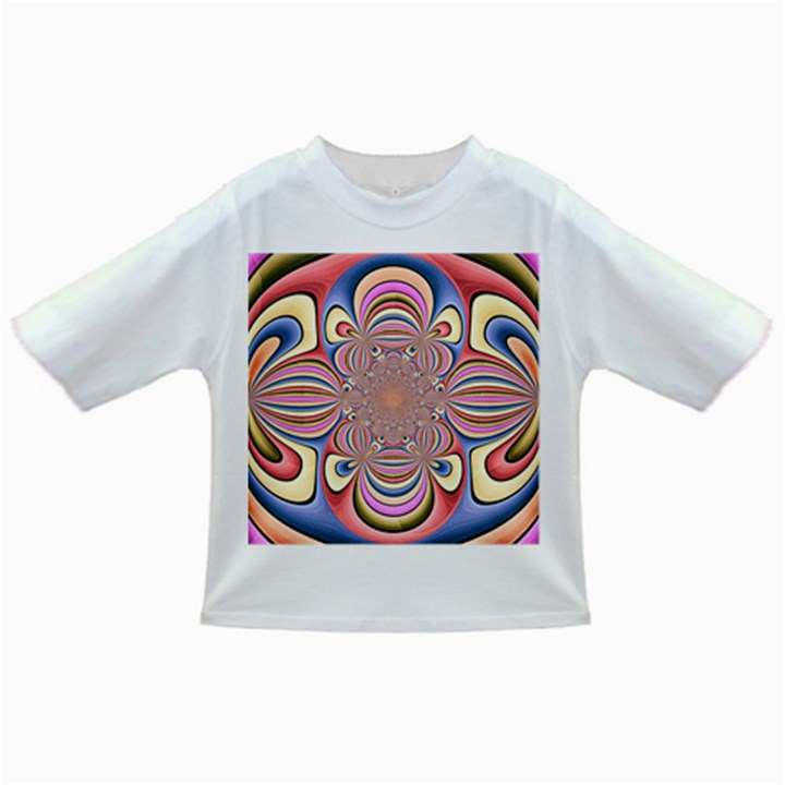Pastel Shades Ornamental Flower Infant/Toddler T-Shirts