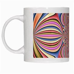 Pastel Shades Ornamental Flower White Mugs