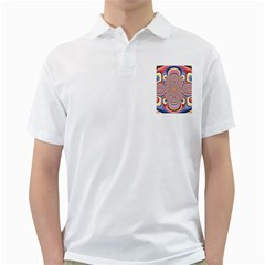Pastel Shades Ornamental Flower Golf Shirts