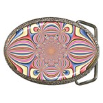 Pastel Shades Ornamental Flower Belt Buckles Front