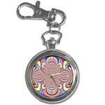 Pastel Shades Ornamental Flower Key Chain Watches Front