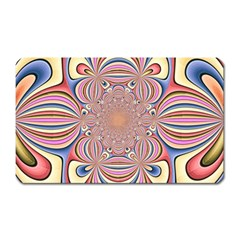 Pastel Shades Ornamental Flower Magnet (Rectangular)