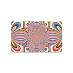 Pastel Shades Ornamental Flower Magnet (Name Card) Front