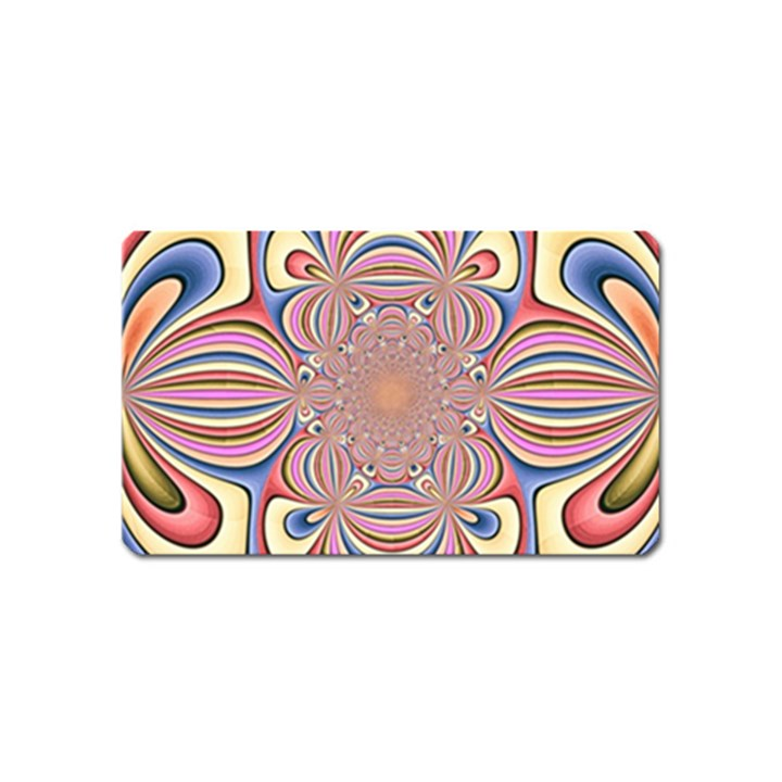 Pastel Shades Ornamental Flower Magnet (Name Card)