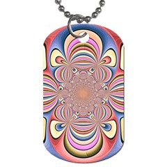 Pastel Shades Ornamental Flower Dog Tag (two Sides)