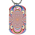 Pastel Shades Ornamental Flower Dog Tag (Two Sides) Front