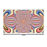 Pastel Shades Ornamental Flower Business Card Holders Front