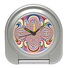 Pastel Shades Ornamental Flower Travel Alarm Clocks