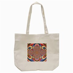 Pastel Shades Ornamental Flower Tote Bag (Cream)