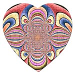 Pastel Shades Ornamental Flower Jigsaw Puzzle (Heart) Front