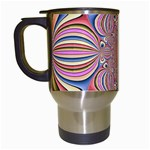 Pastel Shades Ornamental Flower Travel Mugs (White) Left