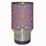 Pastel Shades Ornamental Flower Travel Mugs (White) Center