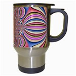 Pastel Shades Ornamental Flower Travel Mugs (White) Right