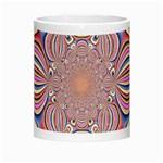 Pastel Shades Ornamental Flower Morph Mugs Center
