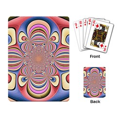Pastel Shades Ornamental Flower Playing Card
