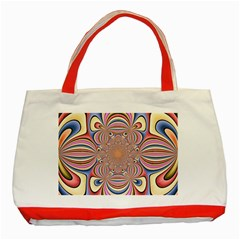 Pastel Shades Ornamental Flower Classic Tote Bag (Red)