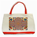 Pastel Shades Ornamental Flower Classic Tote Bag (Red) Front