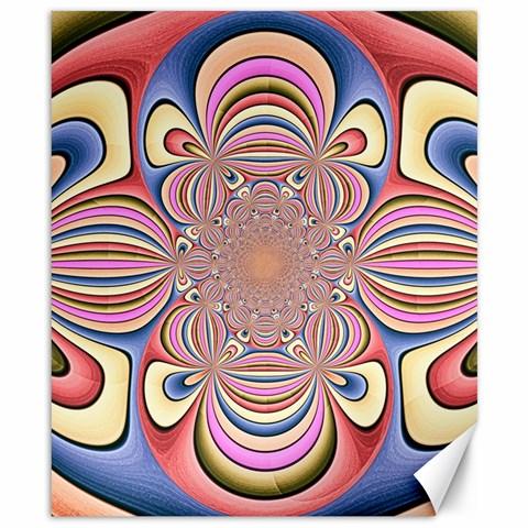 Pastel Shades Ornamental Flower Canvas 8  x 10