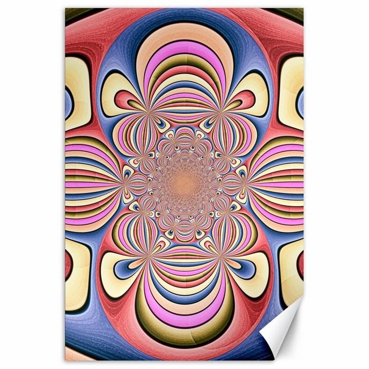 Pastel Shades Ornamental Flower Canvas 20  x 30