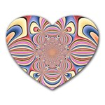 Pastel Shades Ornamental Flower Heart Mousepads Front