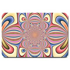Pastel Shades Ornamental Flower Large Doormat