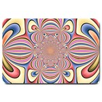 Pastel Shades Ornamental Flower Large Doormat  30 x20 Door Mat - 1