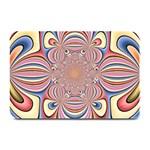 Pastel Shades Ornamental Flower Plate Mats 18 x12 Plate Mat - 1
