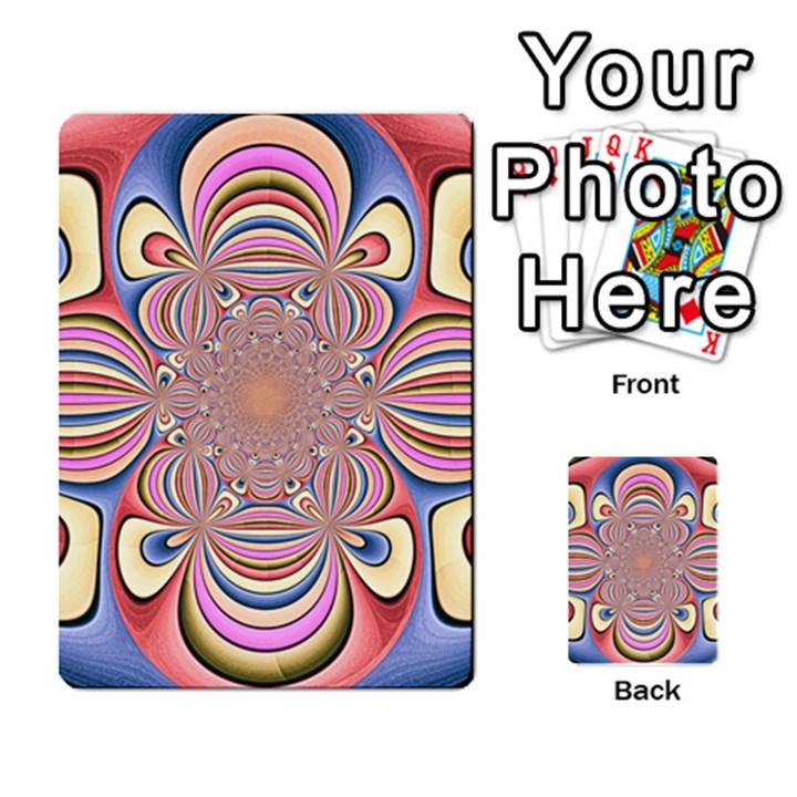 Pastel Shades Ornamental Flower Multi-purpose Cards (Rectangle)