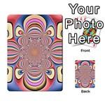 Pastel Shades Ornamental Flower Multi-purpose Cards (Rectangle)  Back 30