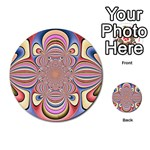 Pastel Shades Ornamental Flower Multi-purpose Cards (Round)  Back 6
