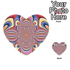 Pastel Shades Ornamental Flower Multi Purpose Cards (heart)