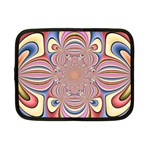 Pastel Shades Ornamental Flower Netbook Case (Small)  Front