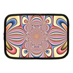 Pastel Shades Ornamental Flower Netbook Case (Medium)  Front