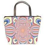 Pastel Shades Ornamental Flower Bucket Bags Back