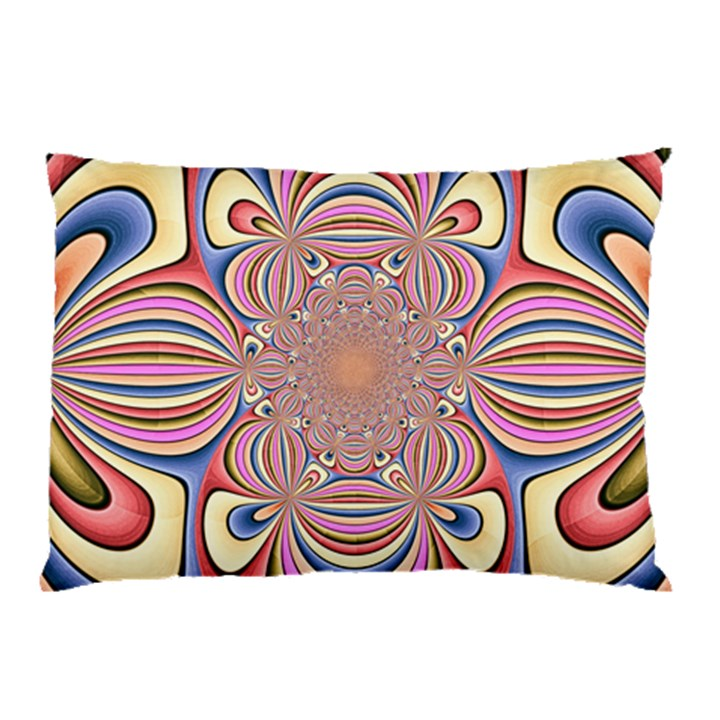 Pastel Shades Ornamental Flower Pillow Case