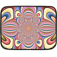Pastel Shades Ornamental Flower Fleece Blanket (mini)
