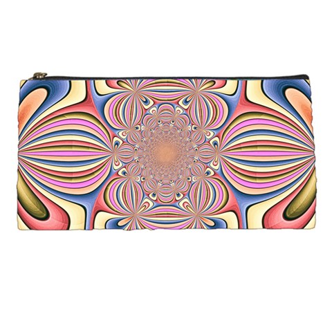 Pastel Shades Ornamental Flower Pencil Cases