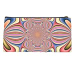 Pastel Shades Ornamental Flower Pencil Cases Back