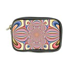 Pastel Shades Ornamental Flower Coin Purse Front