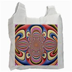 Pastel Shades Ornamental Flower Recycle Bag (Two Side)  Front