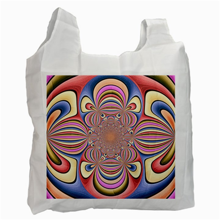 Pastel Shades Ornamental Flower Recycle Bag (Two Side)
