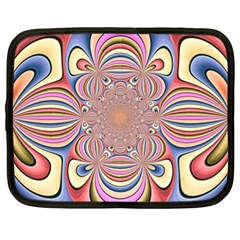 Pastel Shades Ornamental Flower Netbook Case (xl)