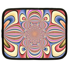 Pastel Shades Ornamental Flower Netbook Case (XXL)
