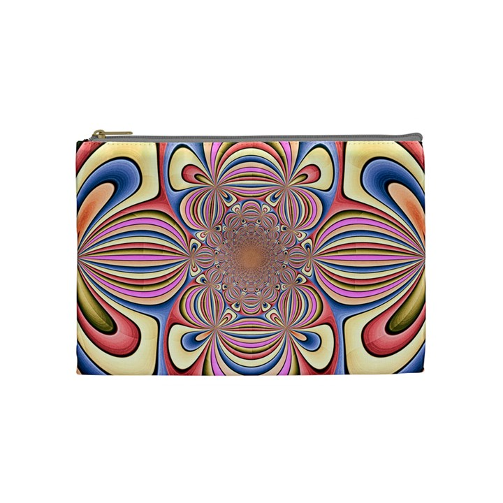 Pastel Shades Ornamental Flower Cosmetic Bag (Medium)