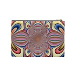 Pastel Shades Ornamental Flower Cosmetic Bag (Medium)  Back