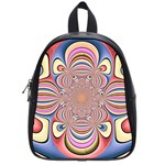 Pastel Shades Ornamental Flower School Bags (Small)  Front
