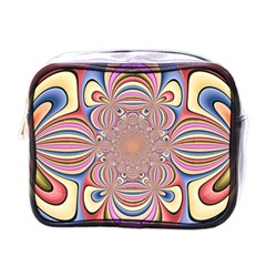 Pastel Shades Ornamental Flower Mini Toiletries Bags