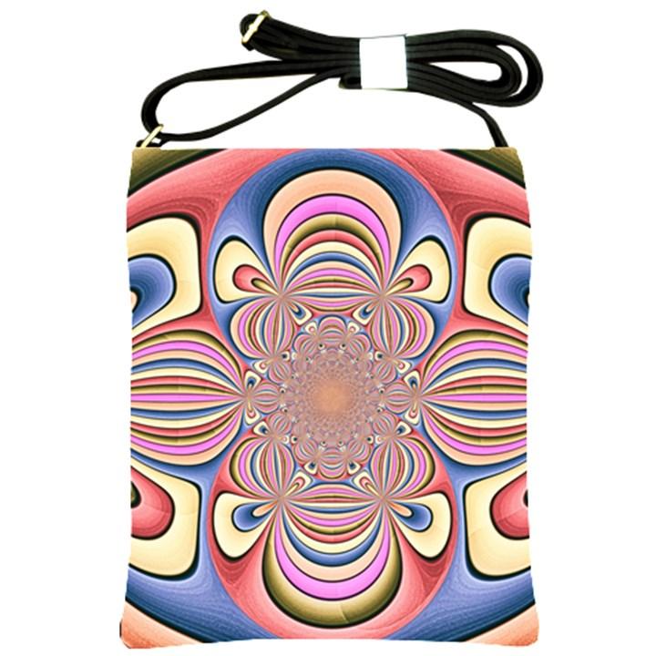 Pastel Shades Ornamental Flower Shoulder Sling Bags