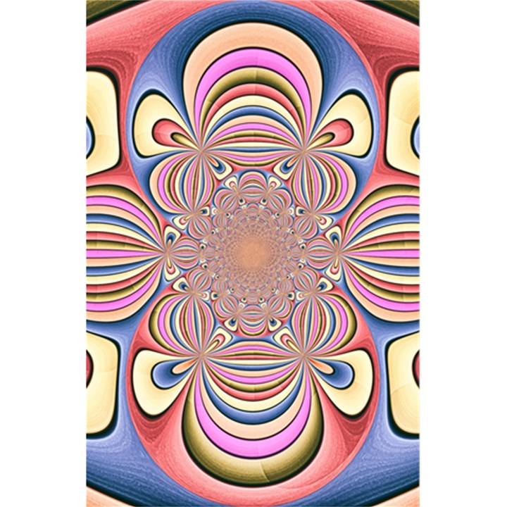 Pastel Shades Ornamental Flower 5.5  x 8.5  Notebooks