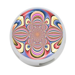 Pastel Shades Ornamental Flower 4-Port USB Hub (Two Sides)